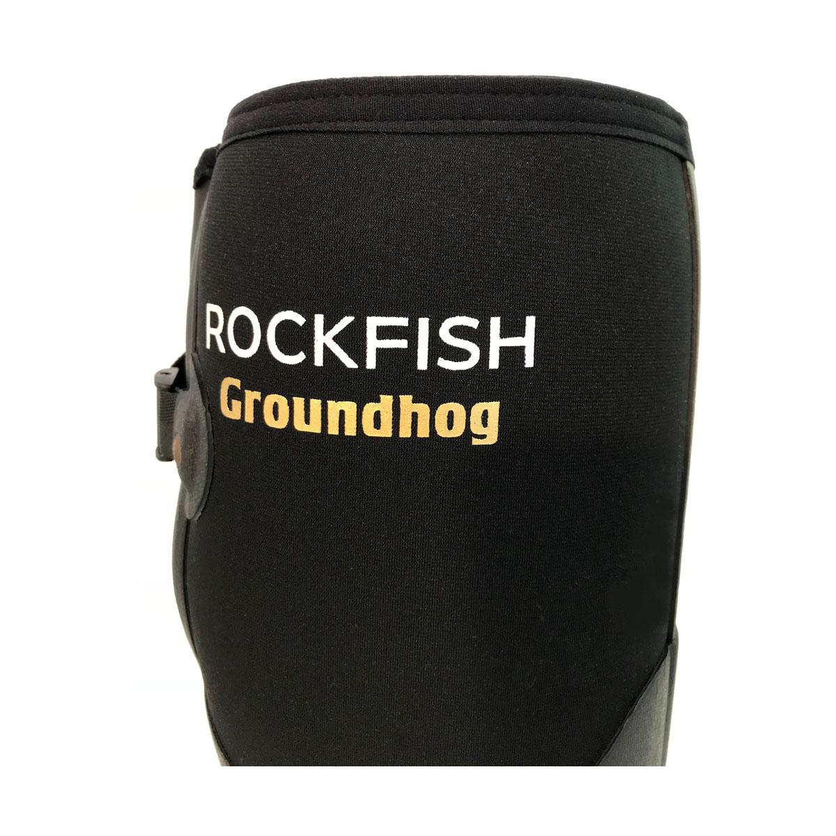 Uk 9 Black Rockfish Neoprene Lined Groundhog Wellington Boots