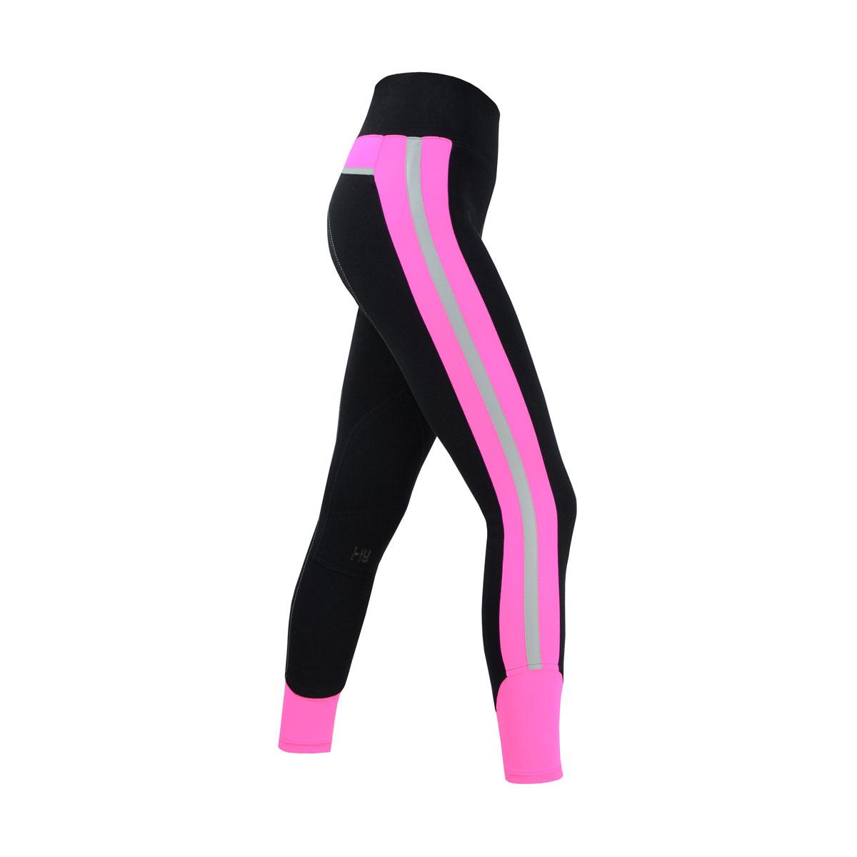Ladies Hy Vis Reflector Jodhpurs Fluorescent Pink